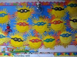 free spring bulletin board idea for kids (2)