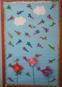 free spring bulletin board idea for kids (5)