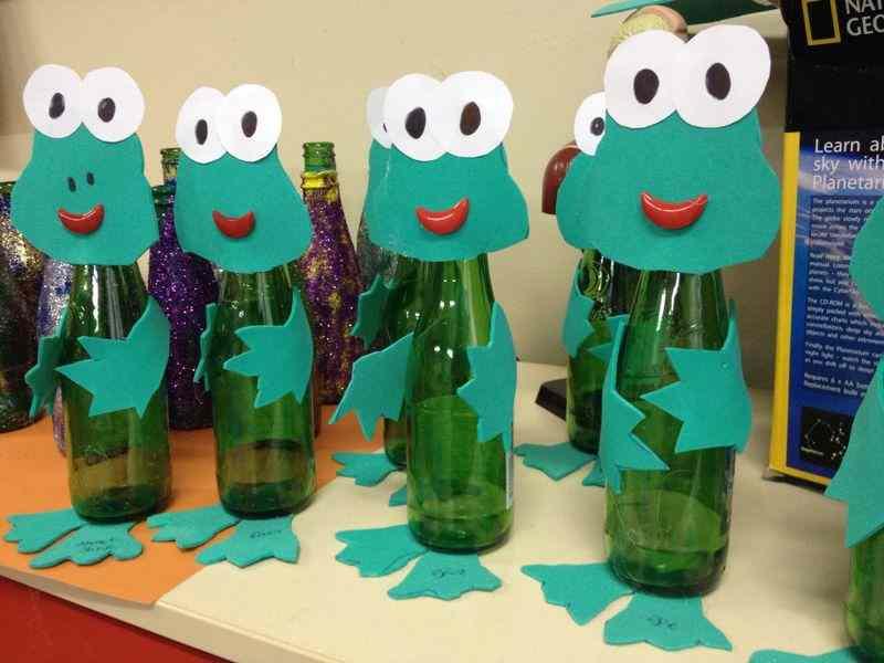 frog bottle craft