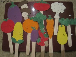 fruit and vegetables puppet craft