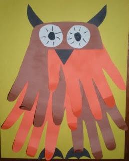 hand owl craft
