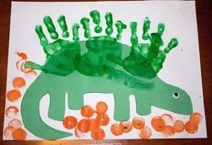 hand print dinosaur