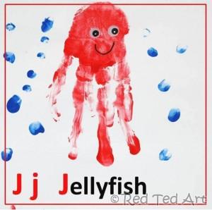 handprint Jellyfish craft