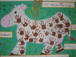 handprint cow craft
