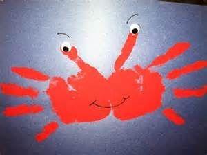 handprint crab craft