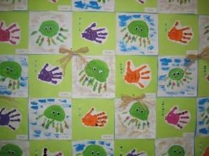 handprint fish and octopus