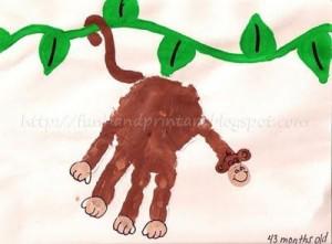 handprint monkey craft