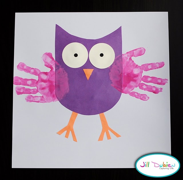 handprint owl craft for kids