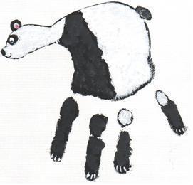 handprint panda craft