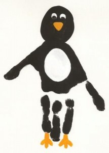 handprint penguin craft
