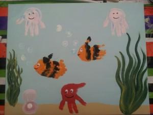 handprint sea animal craft