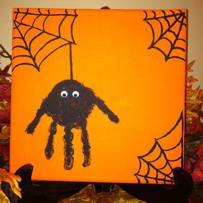 handprint spider craft