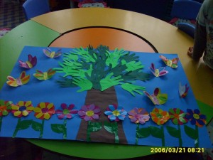 handprint sprin tree craft