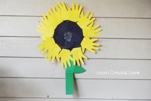 handprint sunflower craft