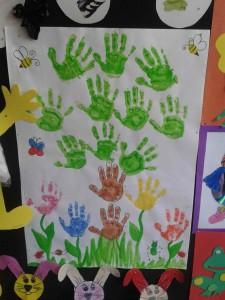 handprint tree craft for kids