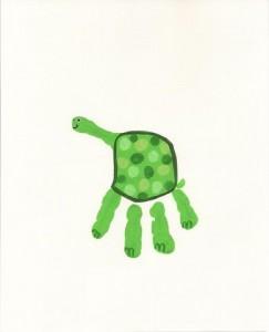 handprint turtle craft
