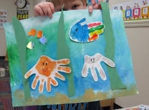 handprinting ocean habitats