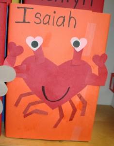heart crab craft