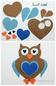 heart owl craft