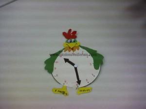 hen clock craft