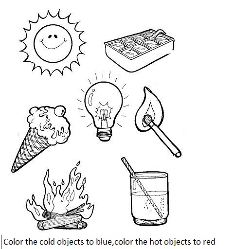 Hot or cold activity worksheets for preschool : Crafts and ...