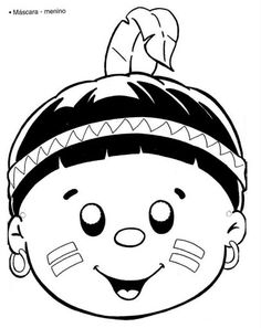 indian mask coloring page