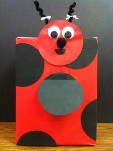 ladybug box craft