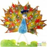leaf peacock craft