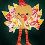 leaf print turkey