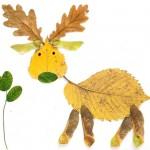 leaf reeindeer craft