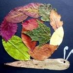 leaf snail craft