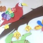 leafprint animals craft