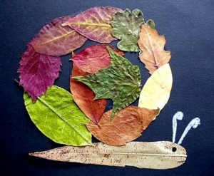 leaves snail craft