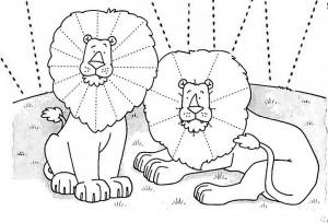 lion trace worksheet