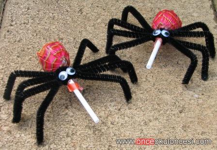 lollipop spider craft