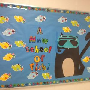 ocean themed bulletin board