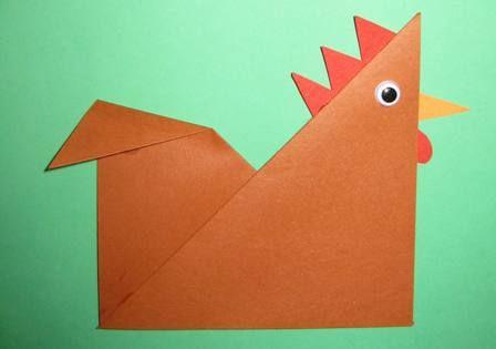 origami chicken craft