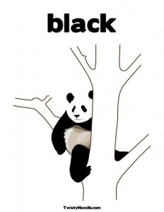 panda house coloring page