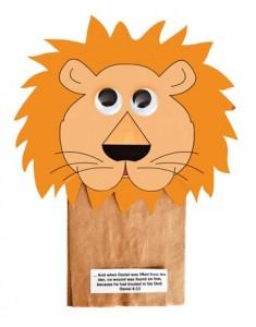 paper bag lion craft