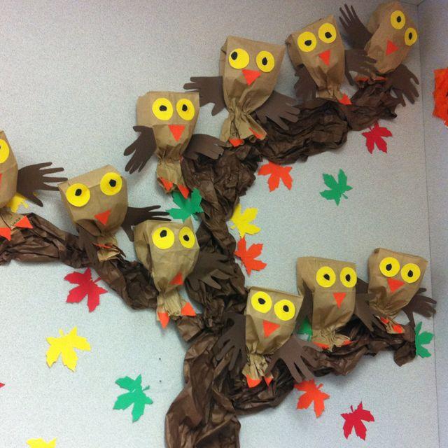 paper bag owl project
