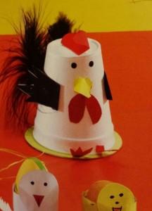 paper cup chicken craf