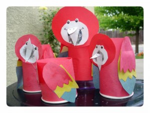 paper cup parrot craft