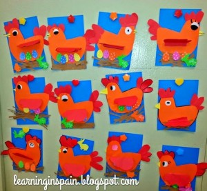 paper hen craft