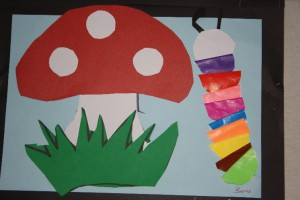 paper mushroom craft