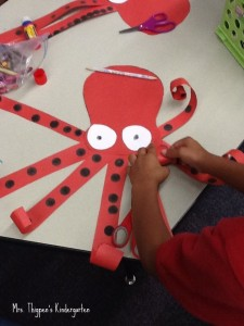 paper octopus craft for kids