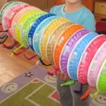 paper plate caterpillar craft