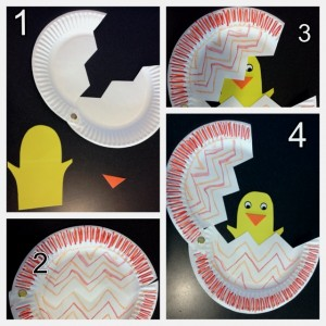 paper plate chick