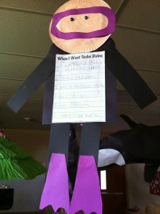 paper plate diver craft
