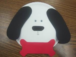 paper plate dog craft