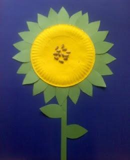 paper plate flower 1